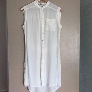 AllSaints- Bottom down silk dress